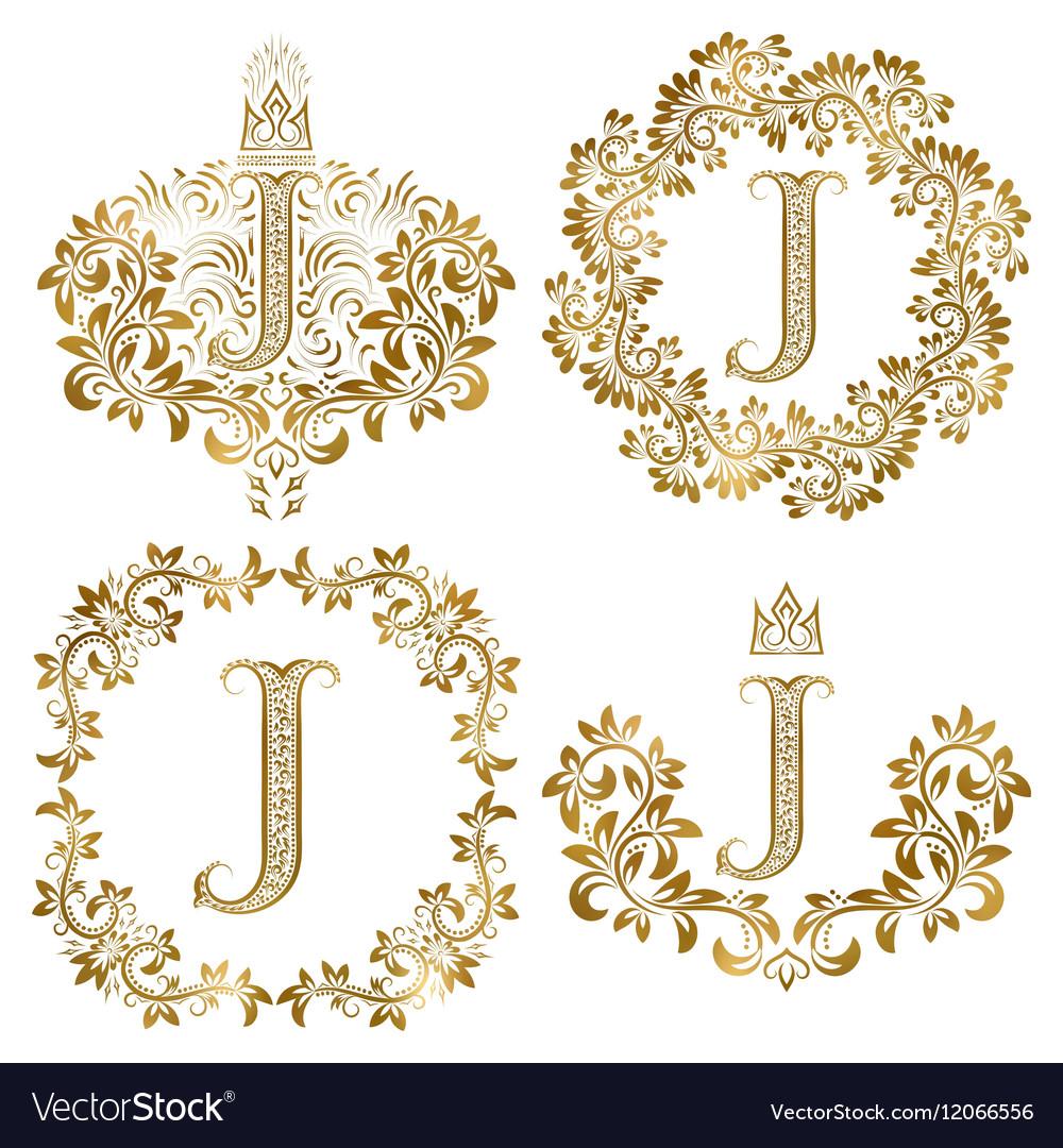 Vintage letter j consider, that