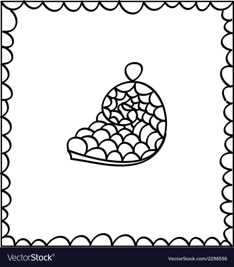 Hand drawn decorative seashell design element