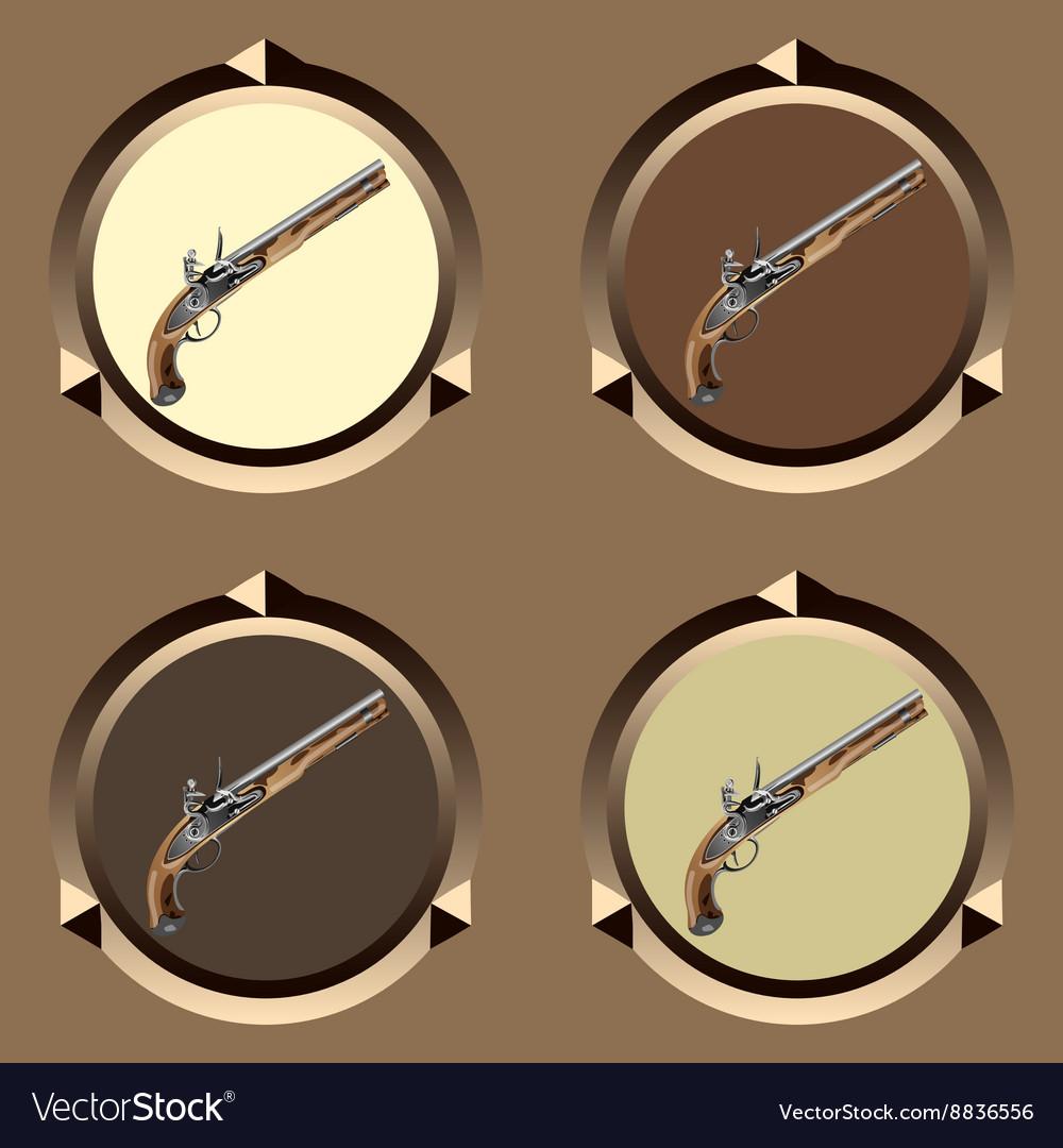 Icon pirate pistol