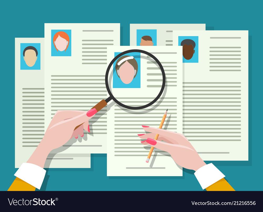 Job vacancy employee hunter documents review