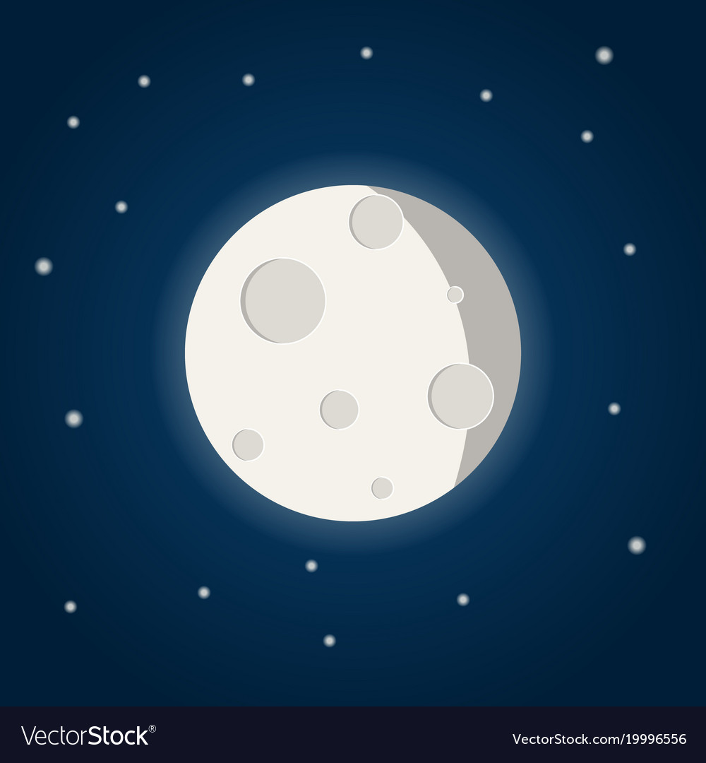 moon with stars on the night sky royalty free vector image rh vectorstock com starry night sky vector night sky vector image