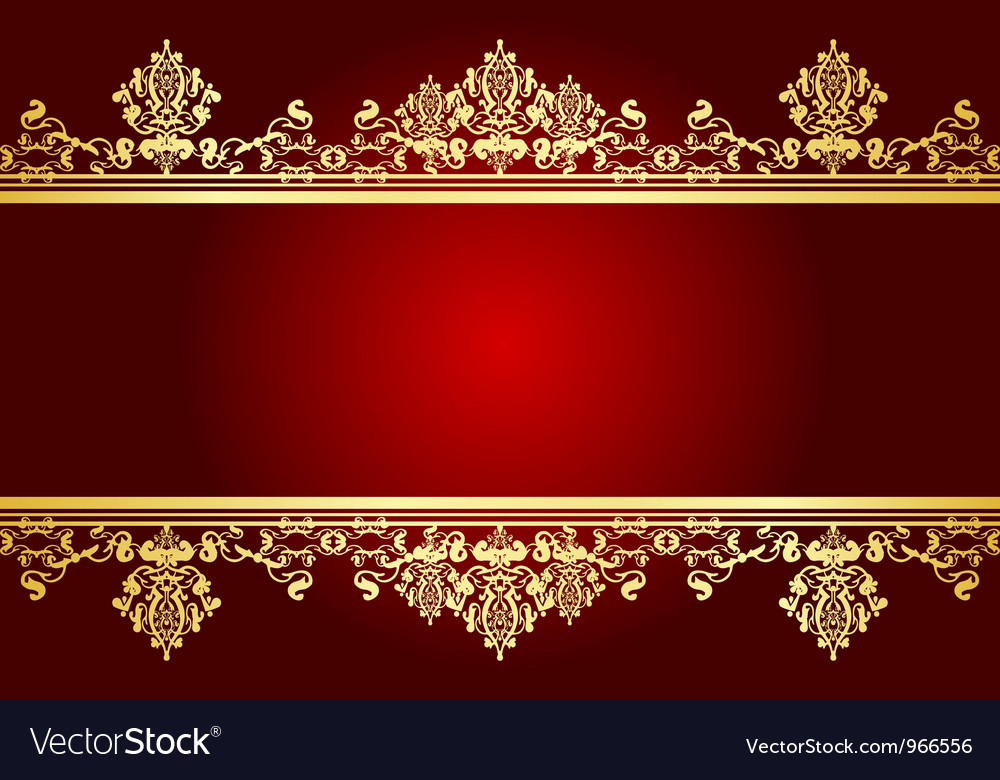 Red And Gold Frame