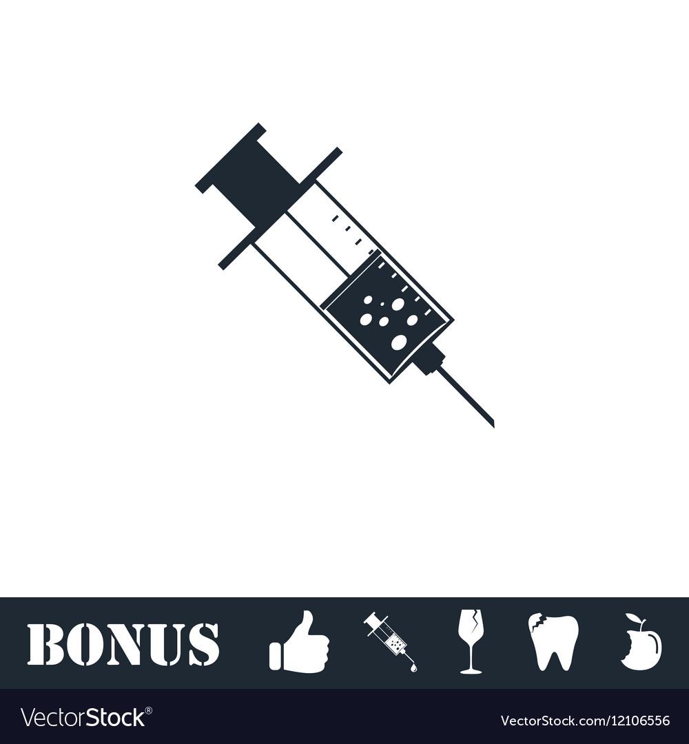Syringe icon flat vector image