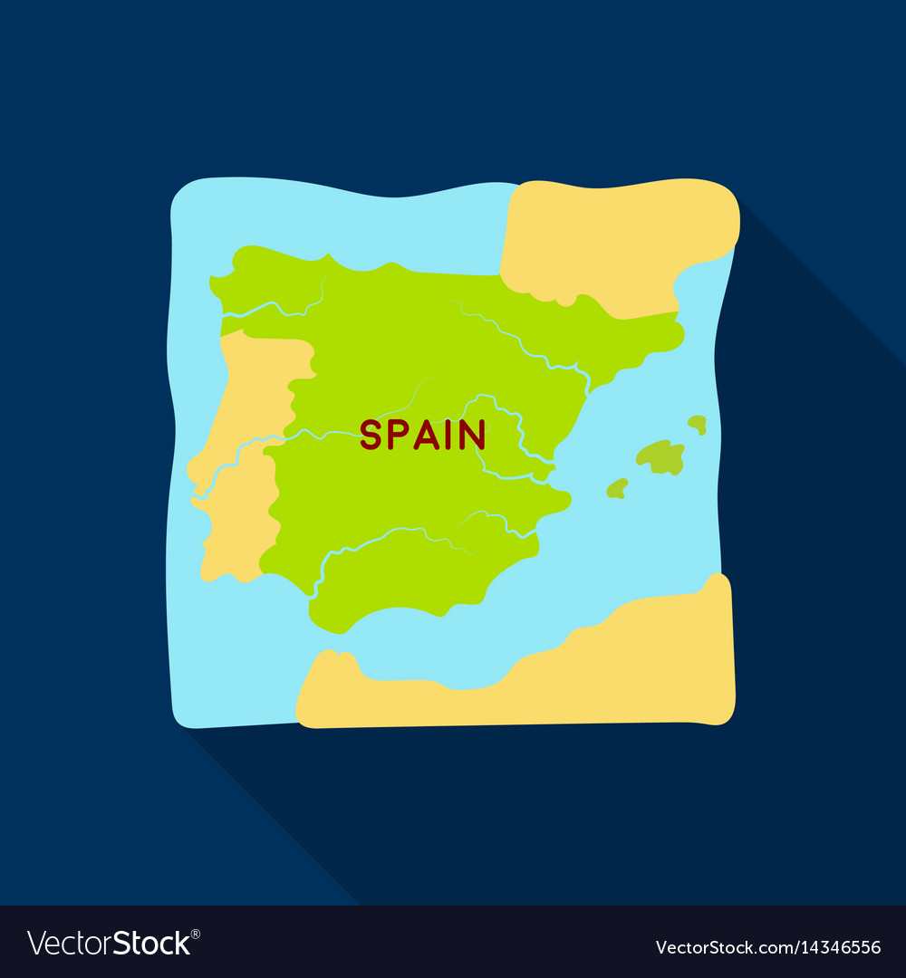 Territory of spain icon in flate style isolated on