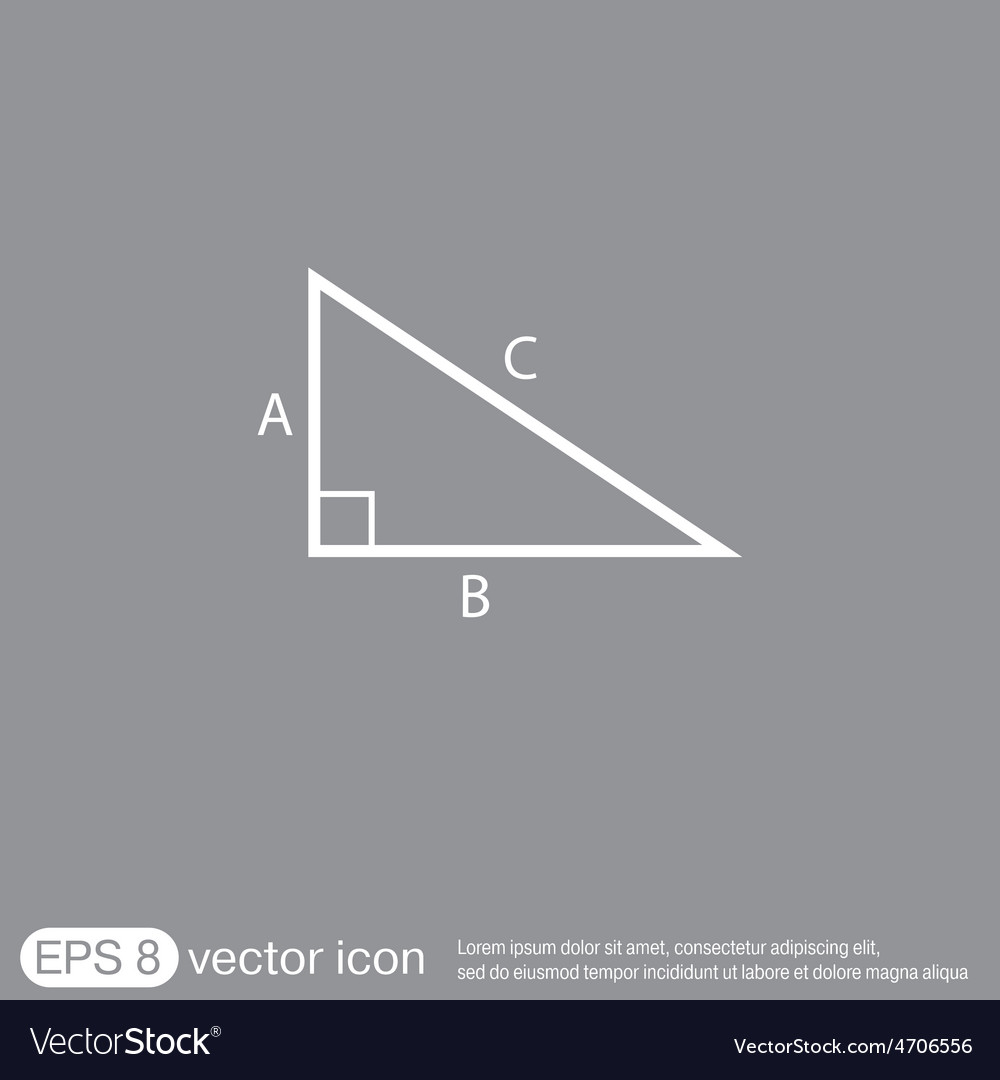 Triangle math symbol icon geometry learning math vector image
