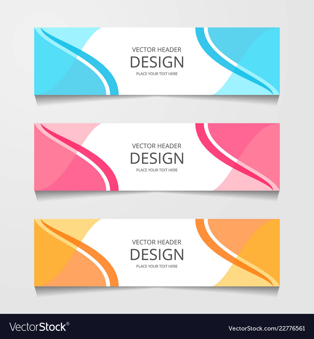 abstract design banner web template layout header vector image