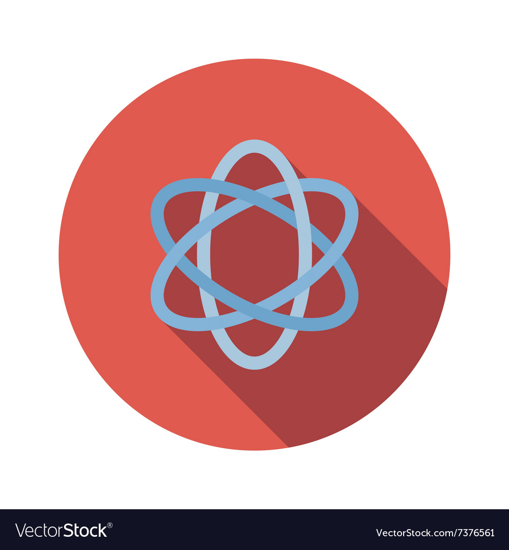 Atom sign flat icon vector image