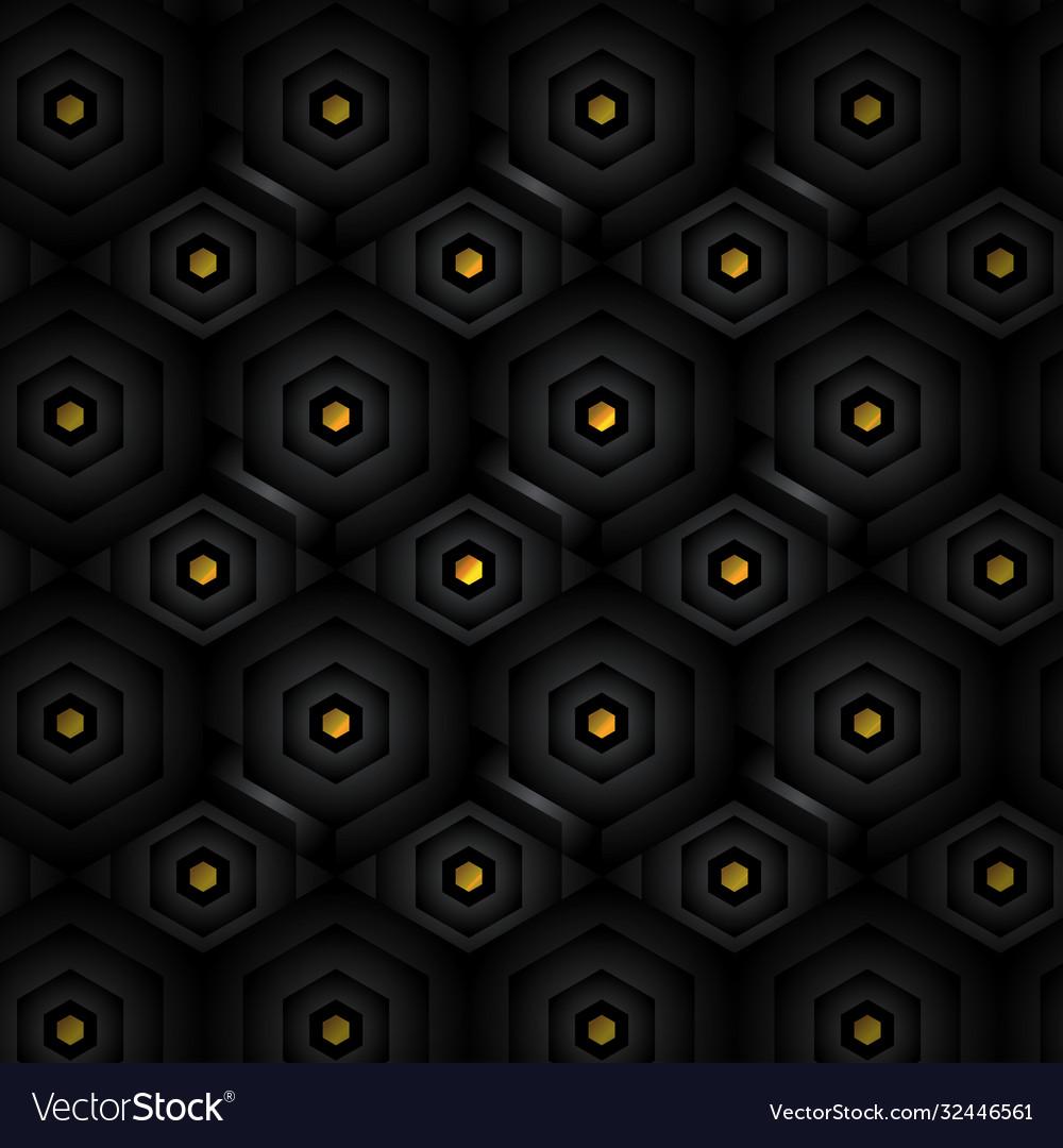 Black abstract tech geometric modern seamless
