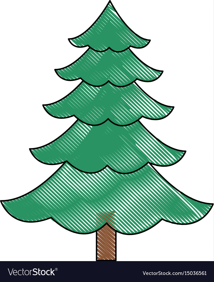 Christmas Tree Pine Ornament Cartoon Icon Vector Image 744 best trees cartoon free brush downloads from the brusheezy community. vectorstock