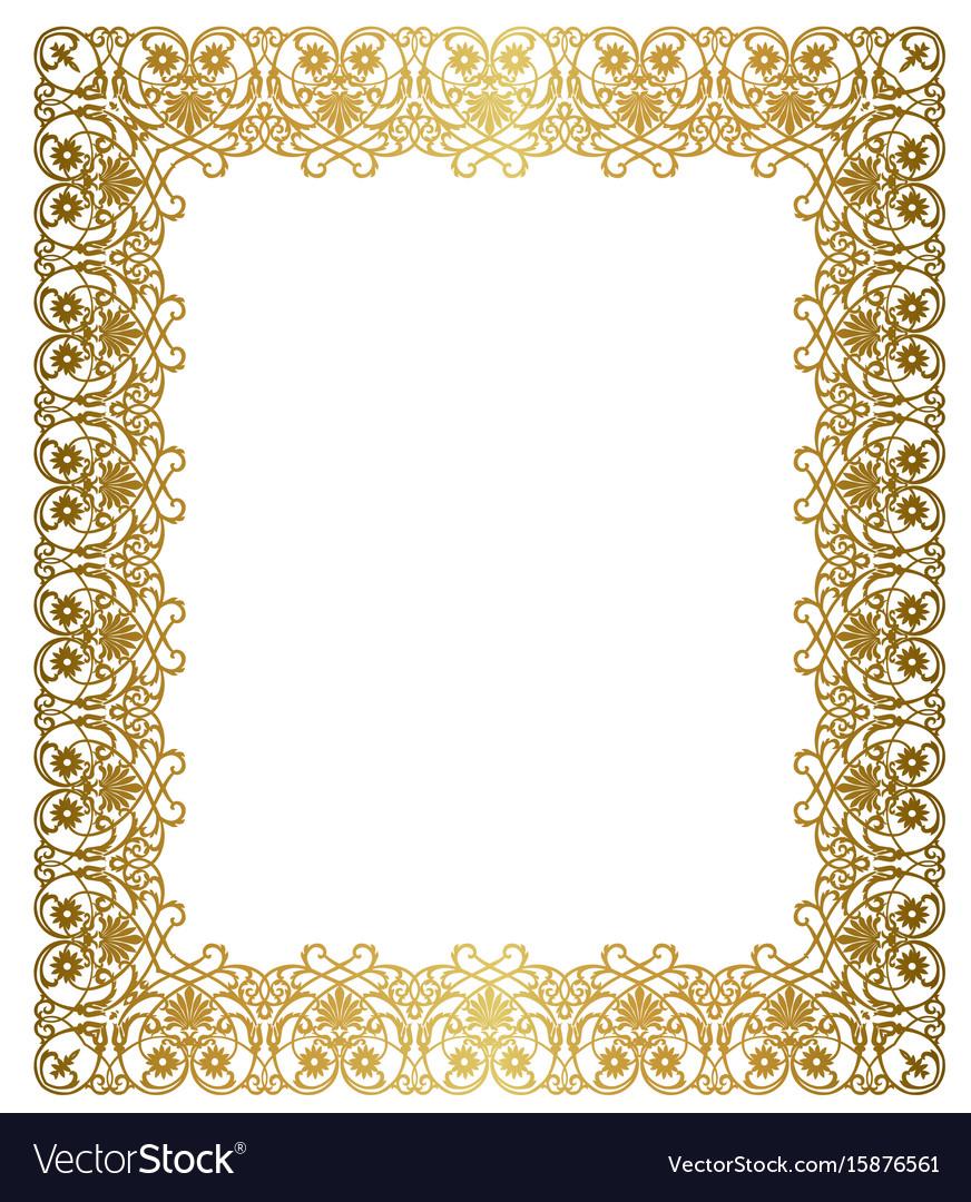 elegant gold frame royalty free vector image vectorstock