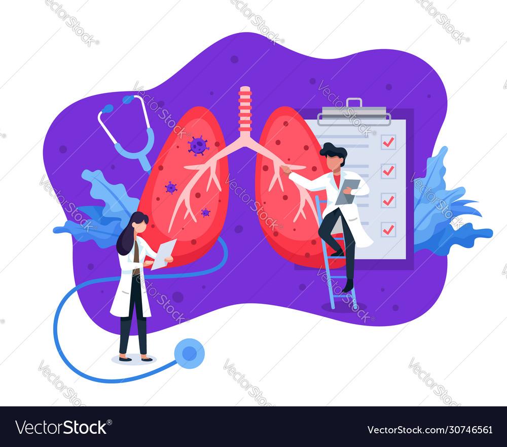Lung health diagnosis concept