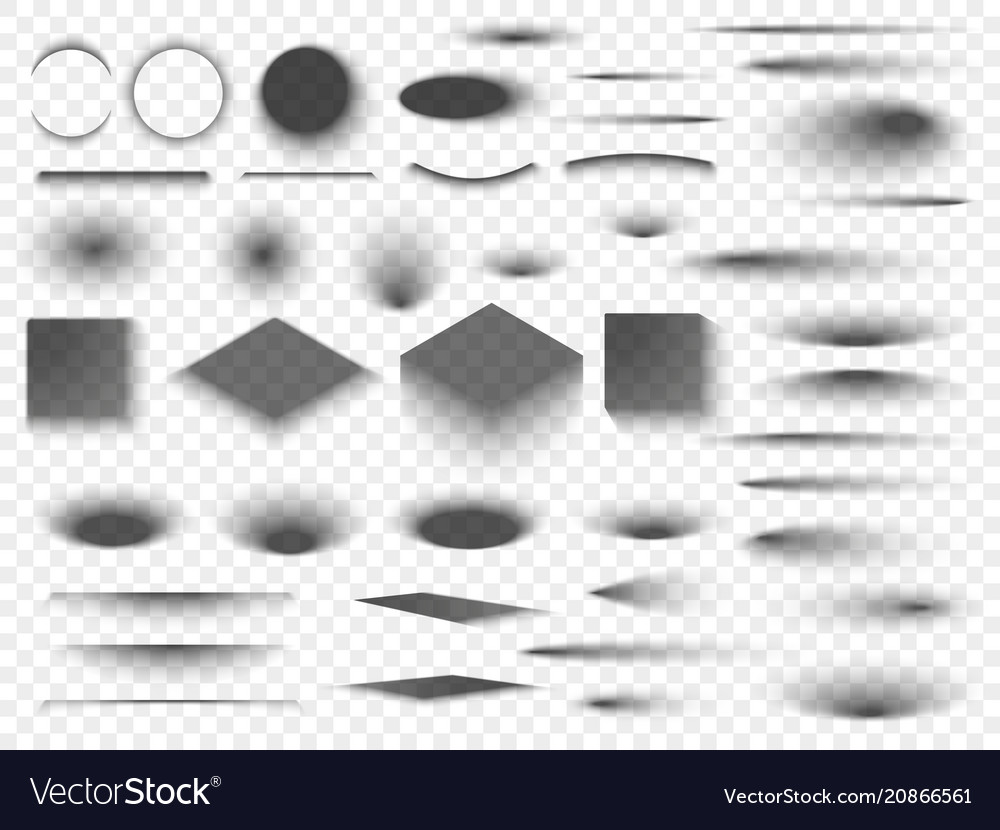 Round and square isolated floor transparent vector image