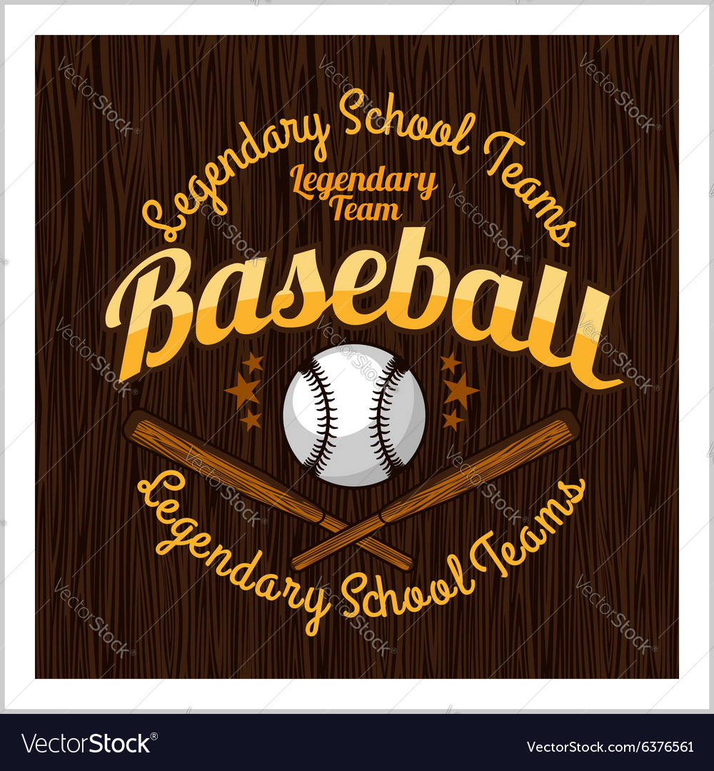 Vintage baseball label and badge - stock