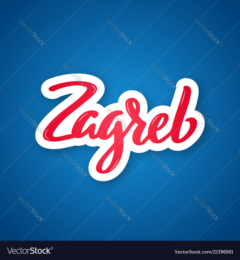 Zagreb - handwritten name of the city sticker