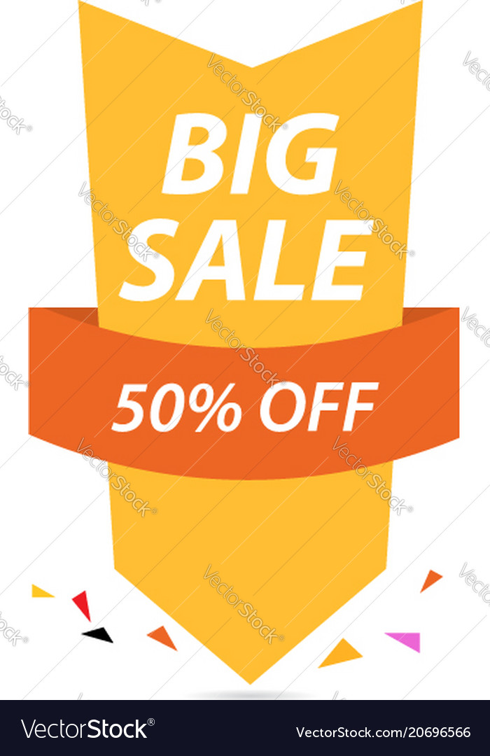 Big sale of colorful discount pattern on white