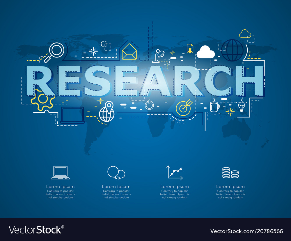 Creative infographic of business research with
