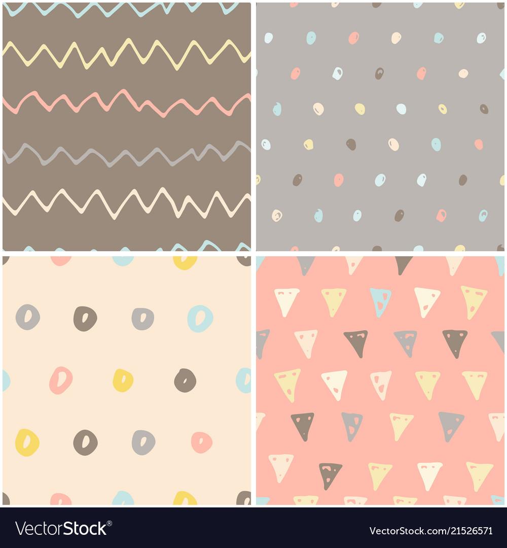 Handdrawn pattern set