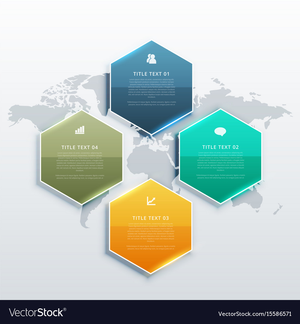 Modern four steps infographic design banners for