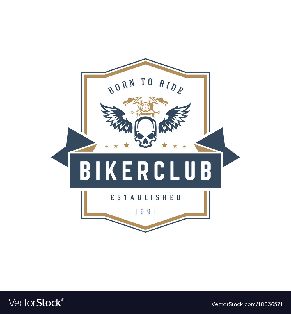 Motorcycle Club Logo Template Design