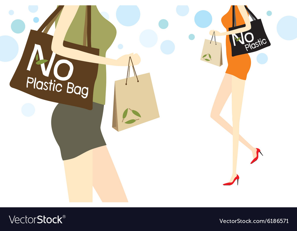 No plastic bag vector image