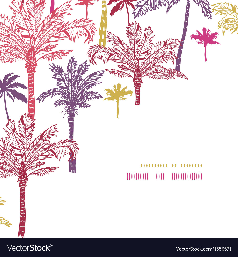 Seamless Corner Decor Pattern Vector Image