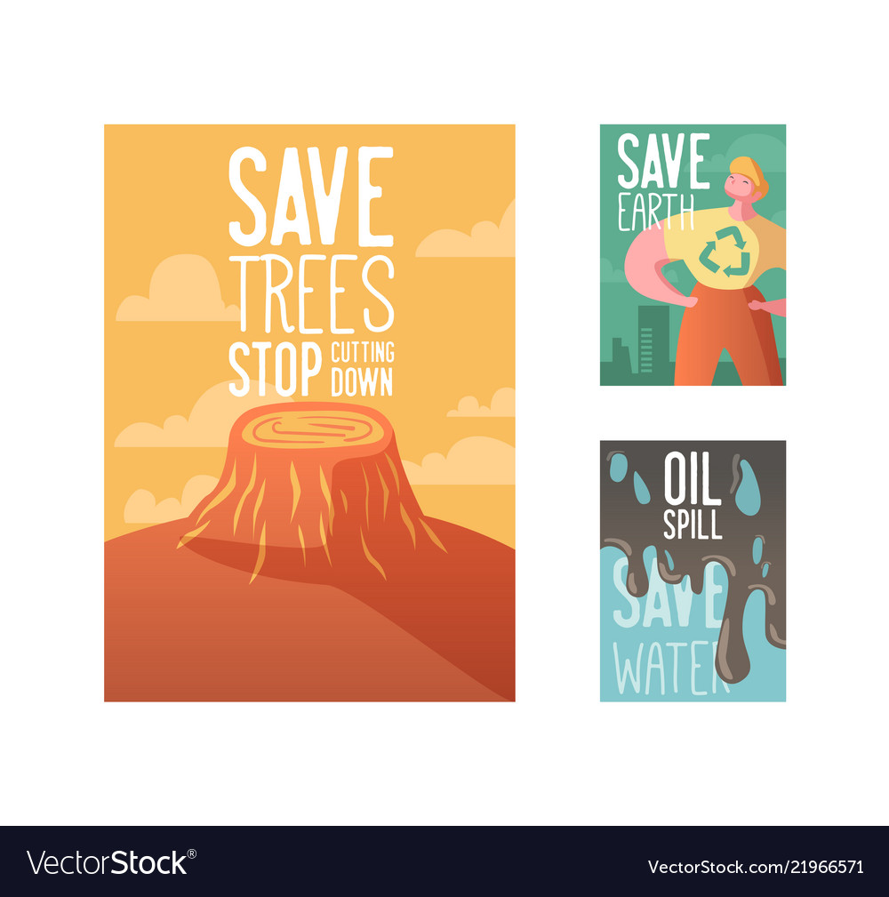 Save the earth poster banner advertising flyer