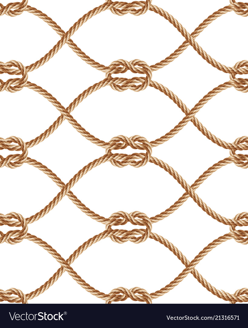 Seamless pattern with brown twisted ropes