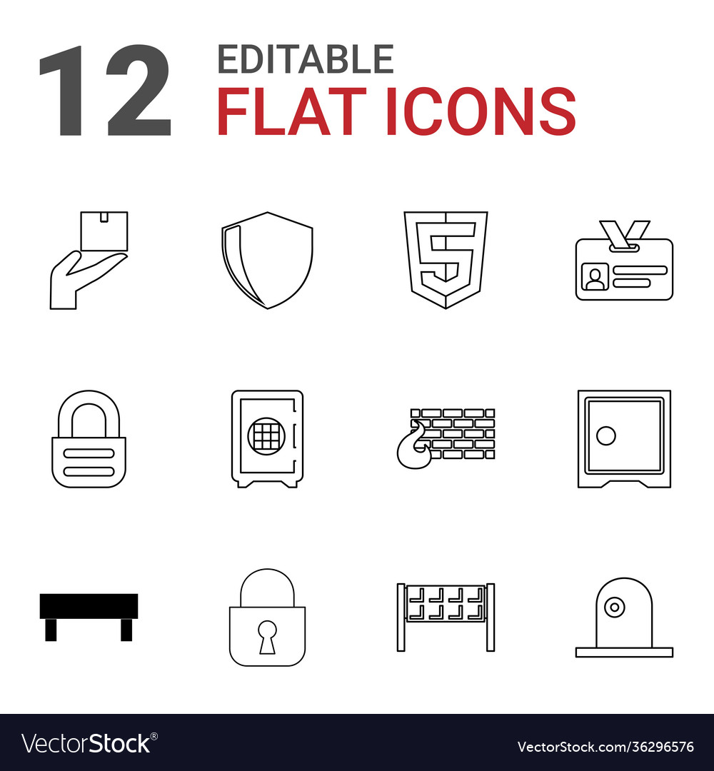 12 security icons