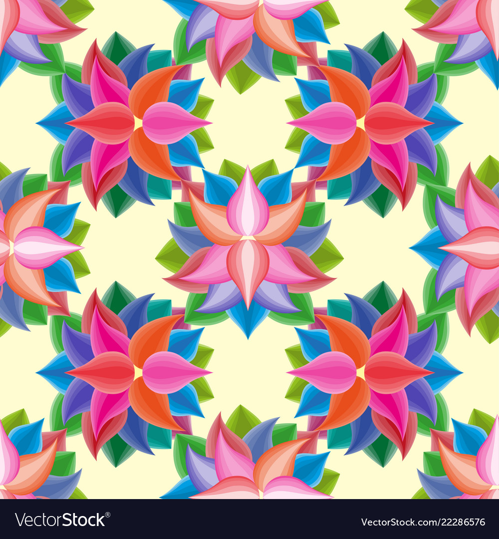 Abstract seamless pattern with flowers floral