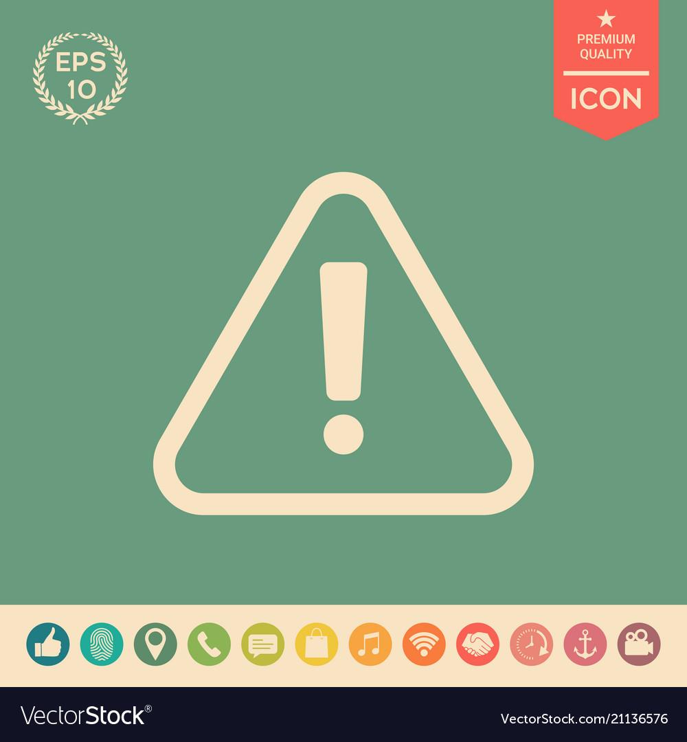 Attention icon symbol