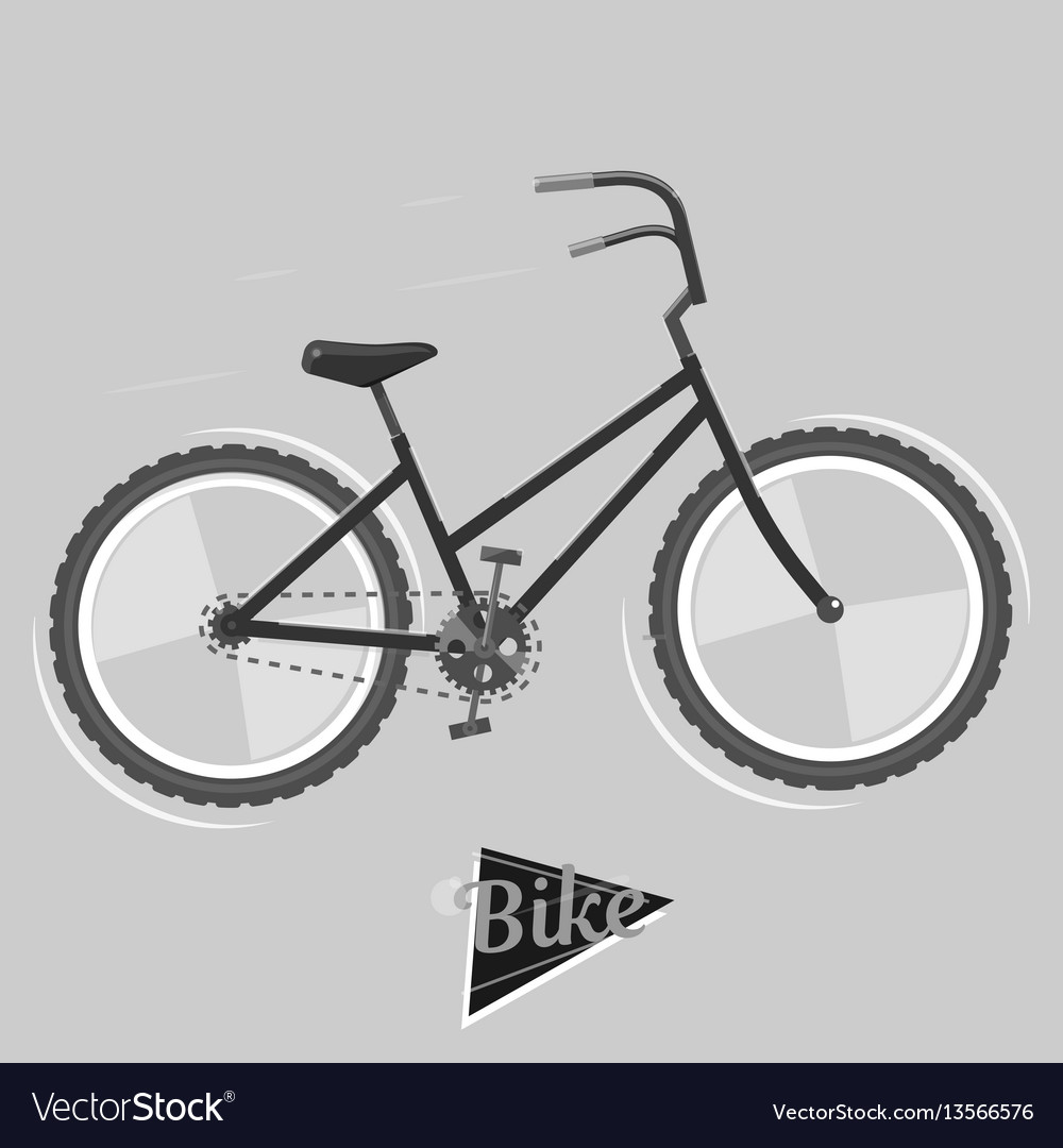 Black and white bike cycling concept bicycle