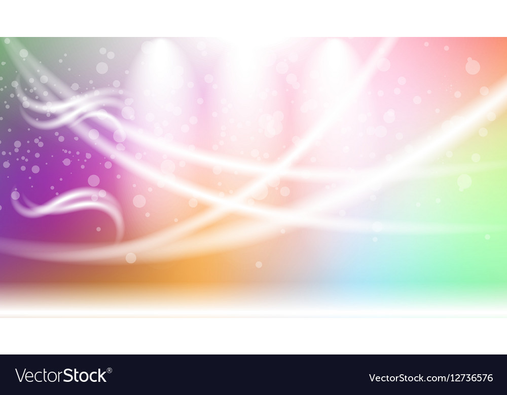 Digital abstract empty light rainbow