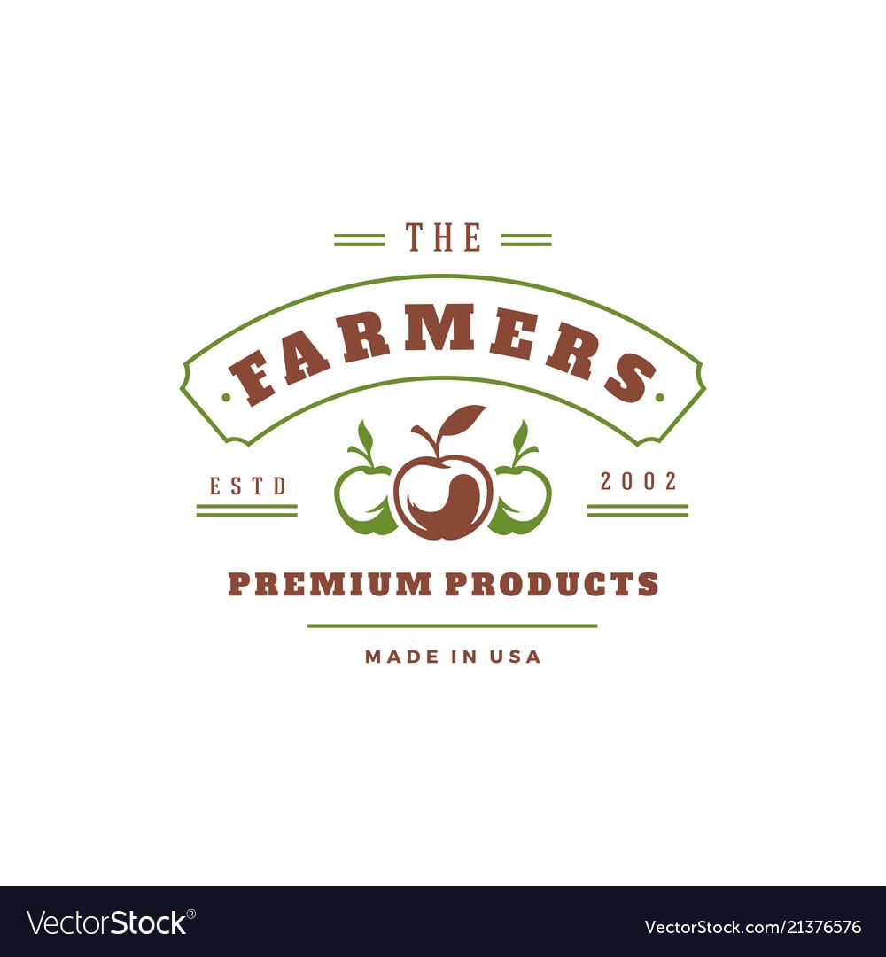 Farmers market logo template