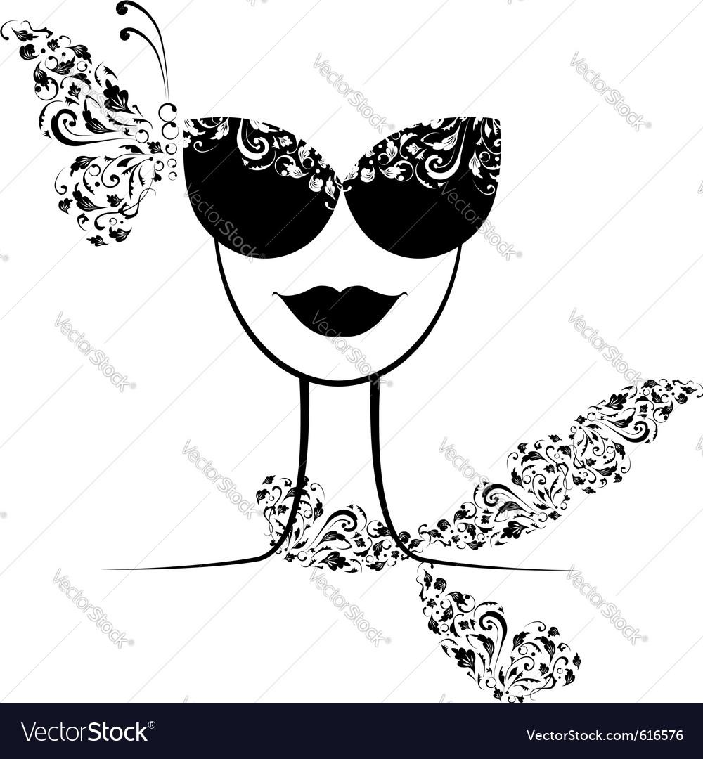 Female fashion silhouette