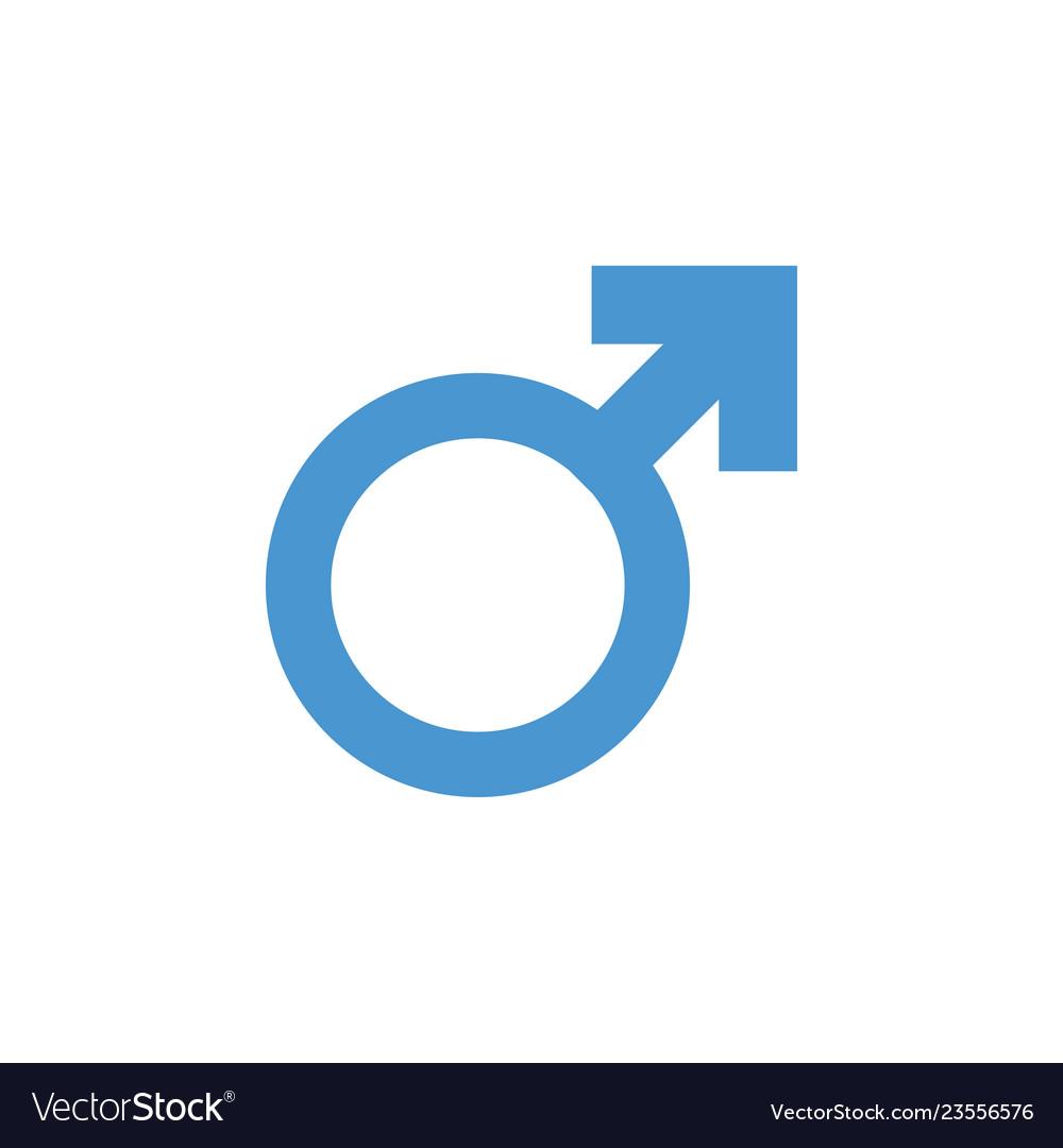 Male gender icon graphic design template