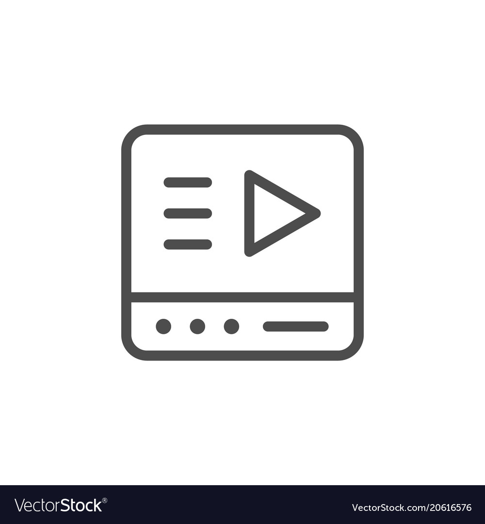 Video player line icon