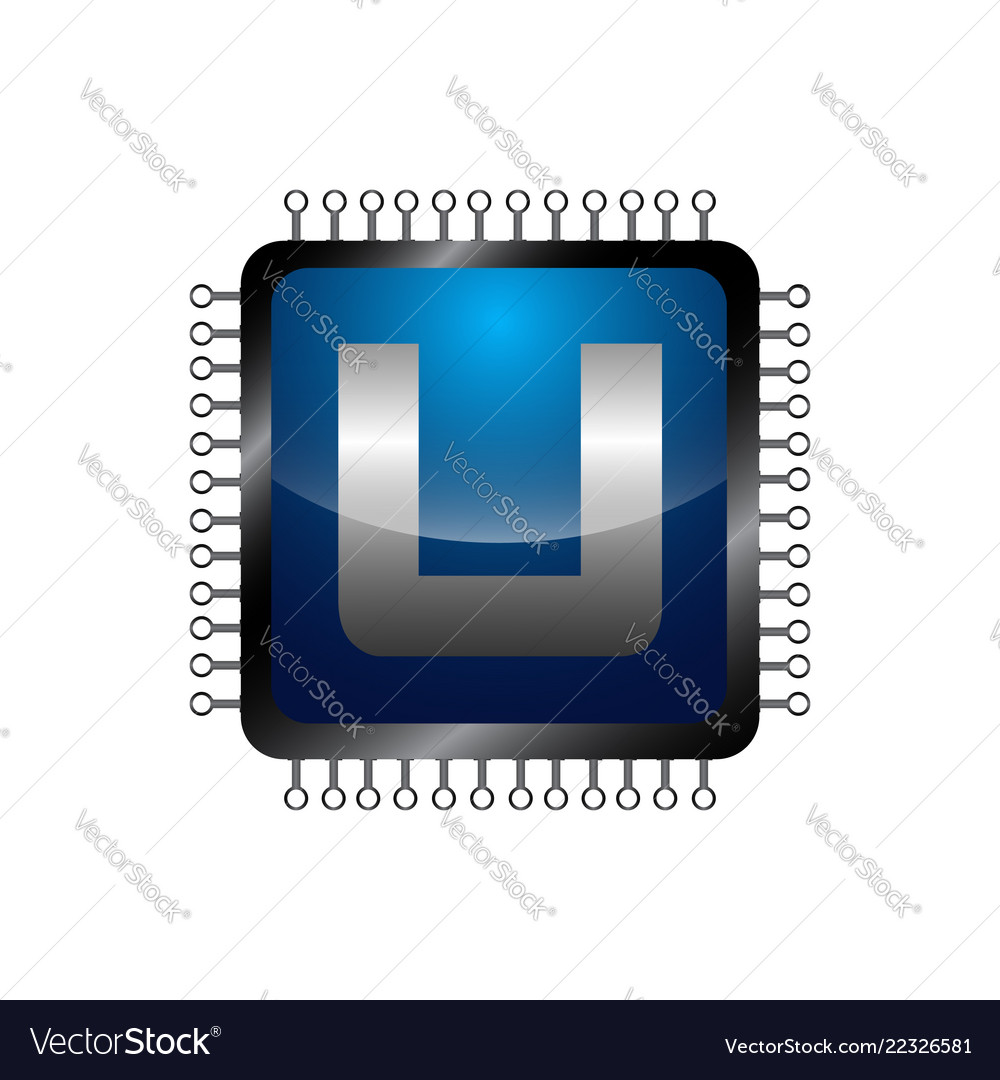Abstract Letter U Logo Design Royalty Free Vector Image