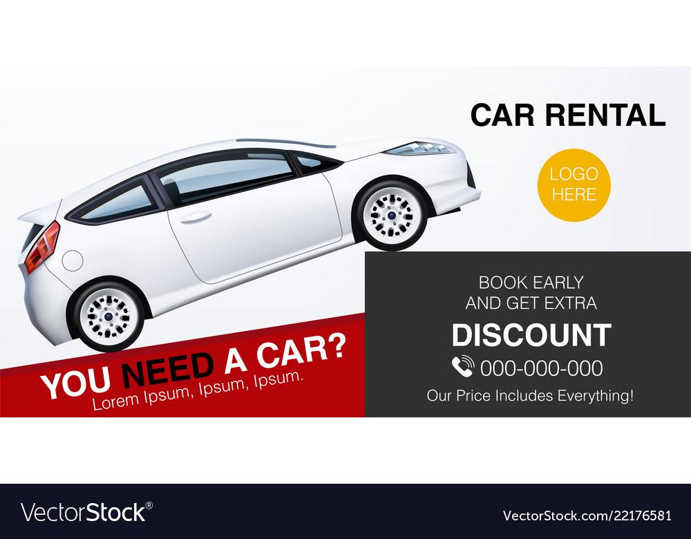 Car Rental Ad Banner Mockup For Business Promotion