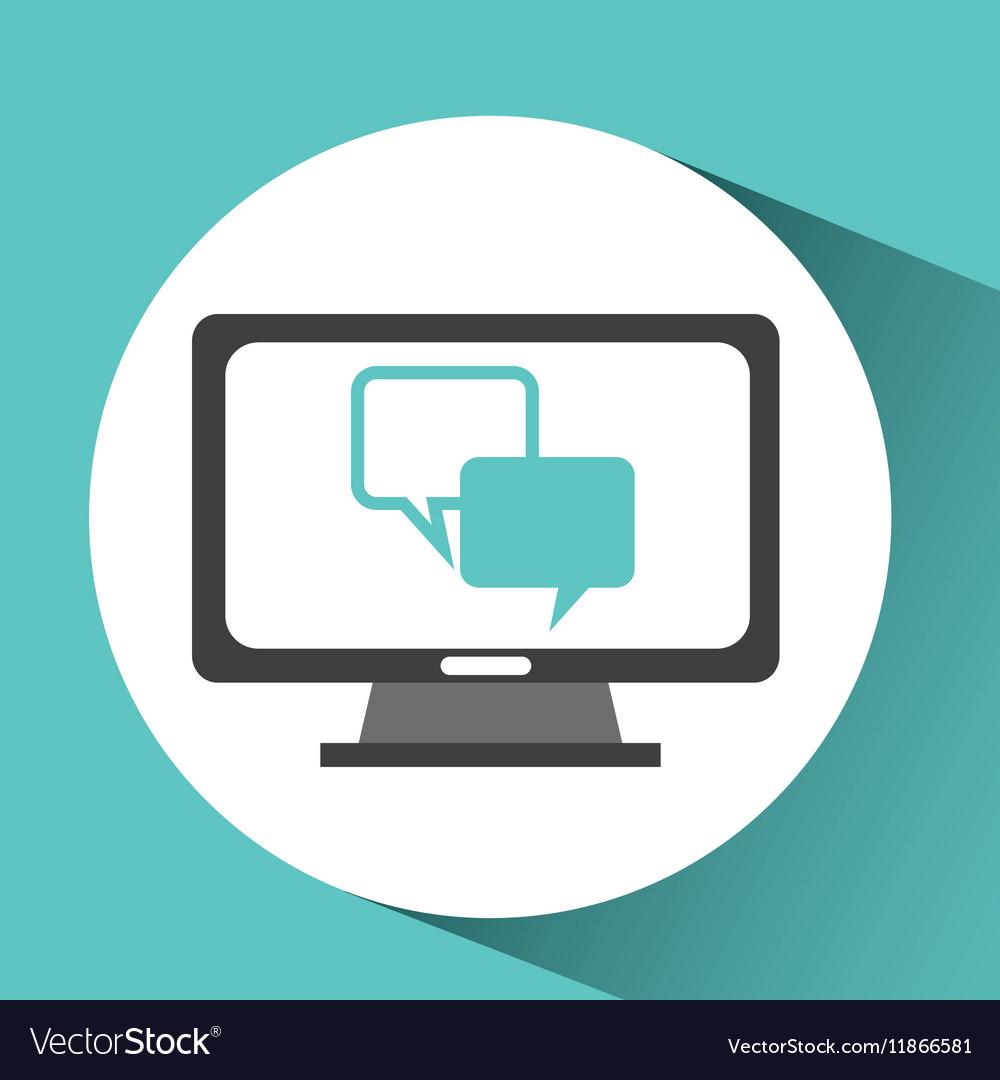 Computer device bubble speech network icon