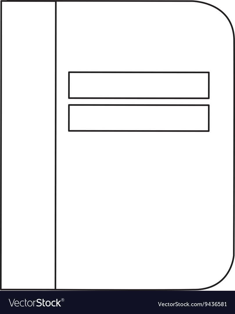 Notebook cover simple line vector image