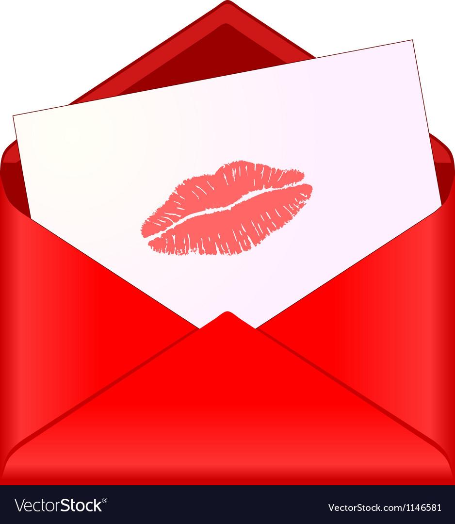 Картинка конверт с поцелуями