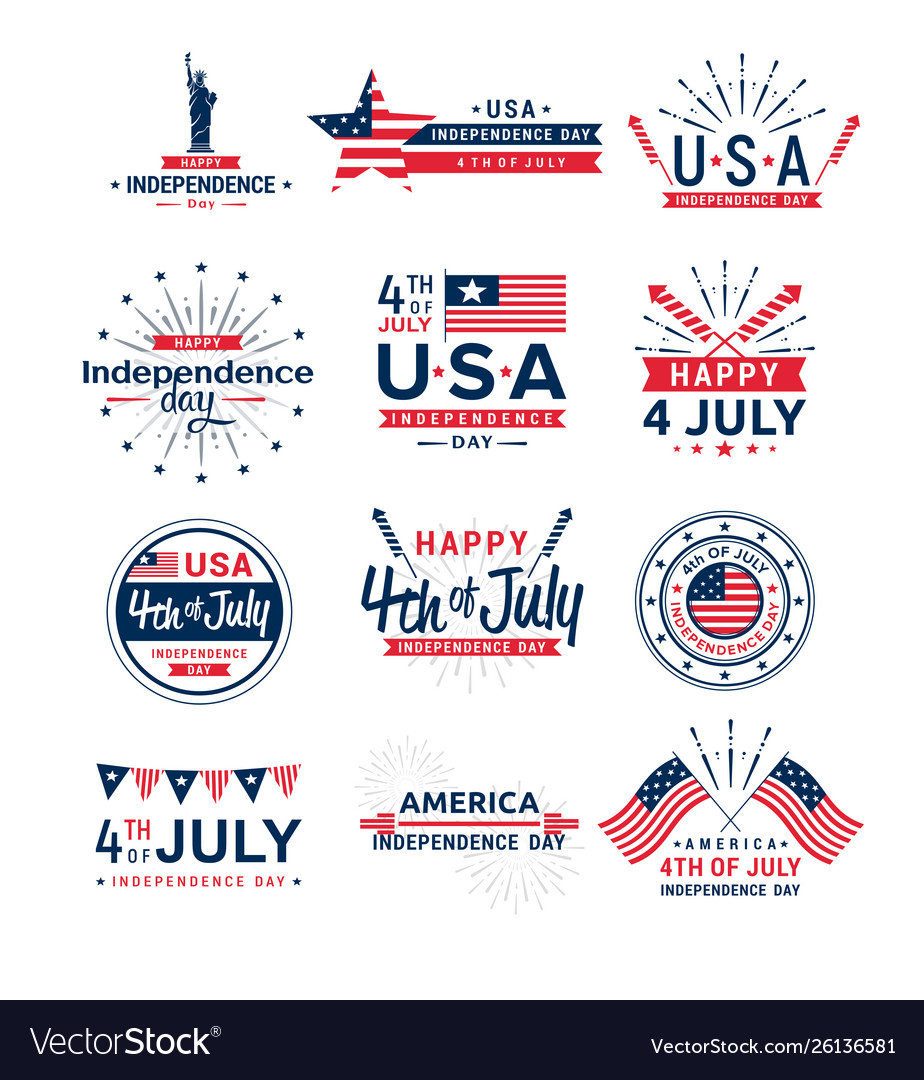 Set 4th july greeting