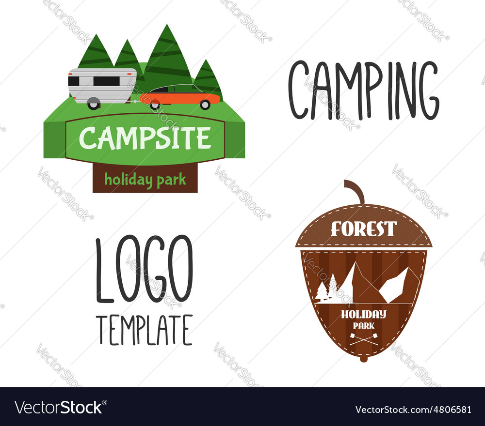 Set of Adventure Outdoor Tourism Travel Logo