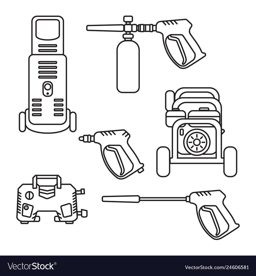 Set pressure washer machine electric