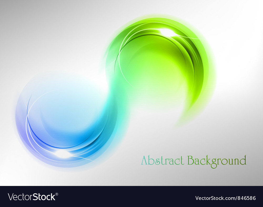 Abstract shape smoke double white blue green vector image