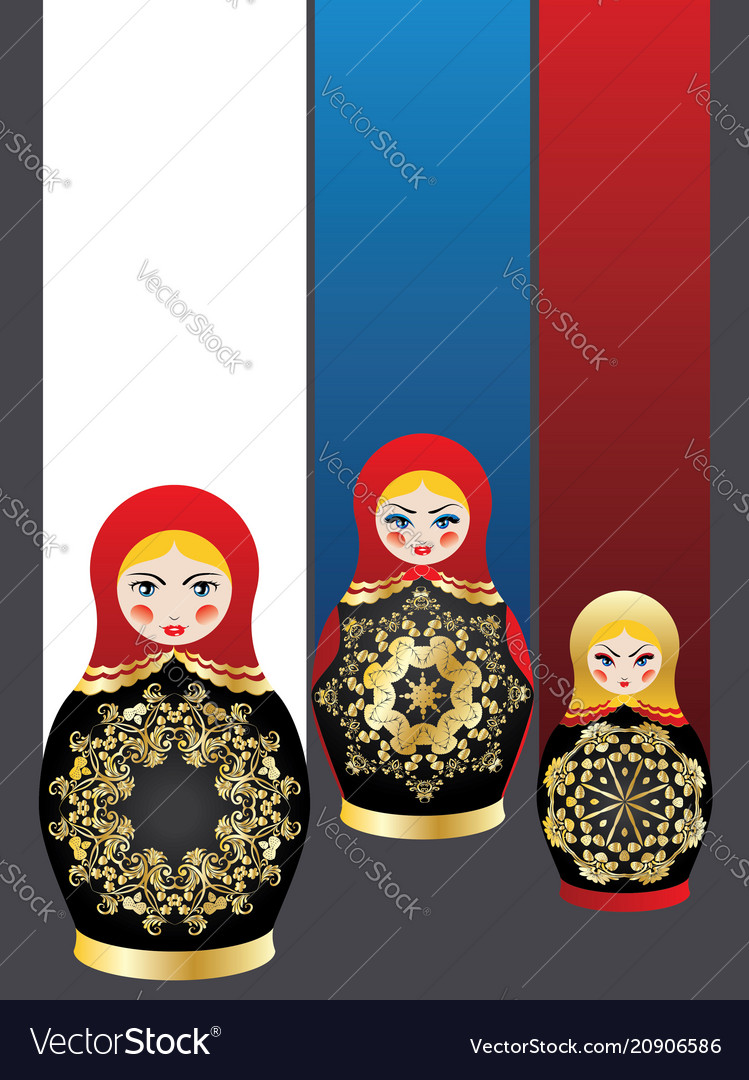 Background with matryoshka dolls