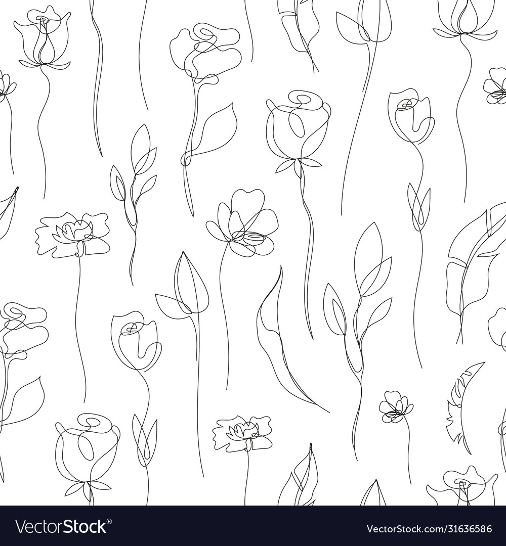 Flower linear simpless background roses