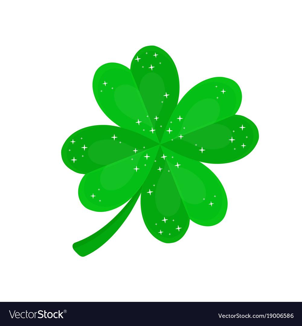 Four-leaf clover in sequins vector image