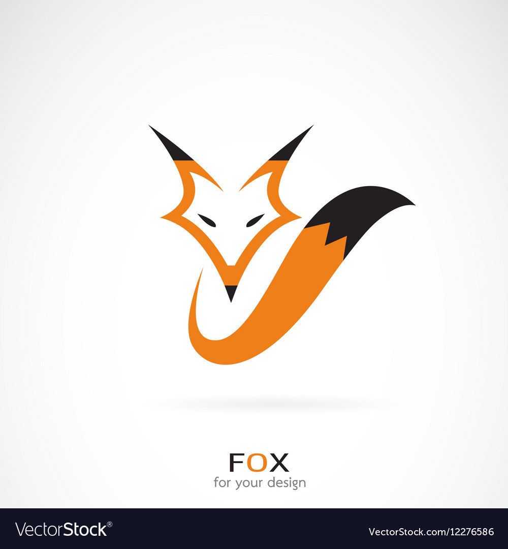 Fox design on white background