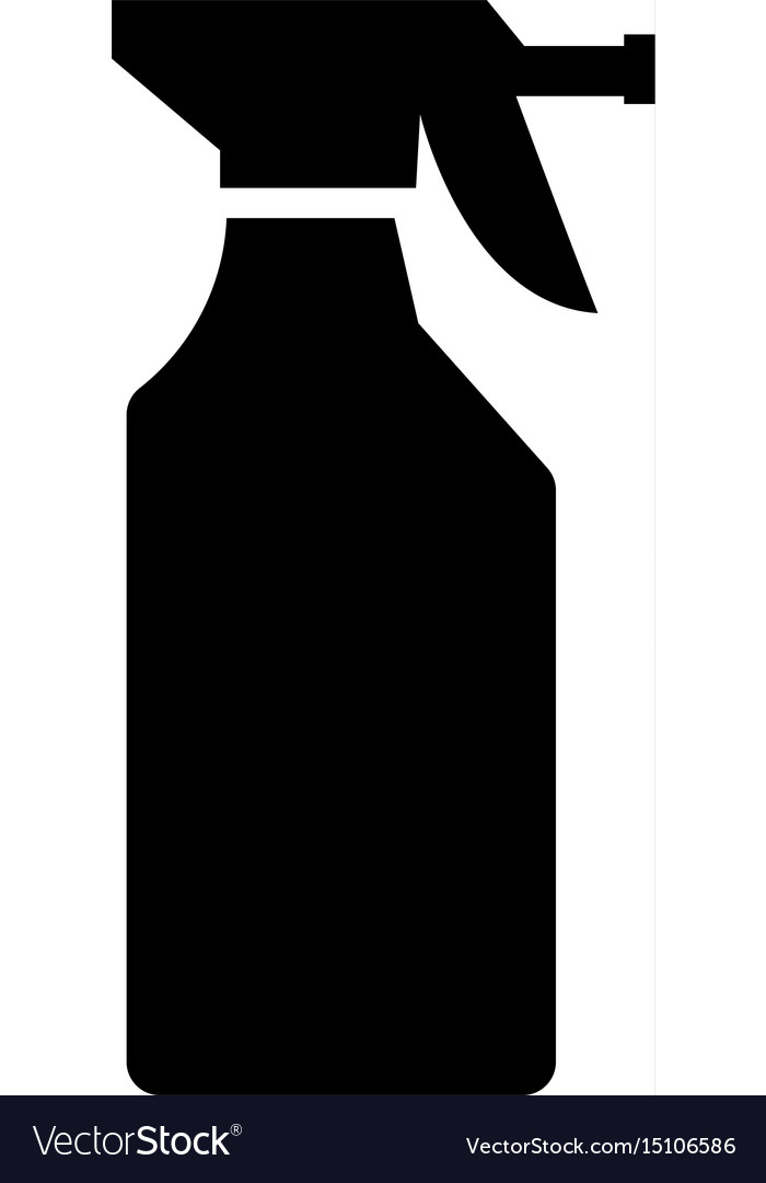 Household chemicals the black color icon vector image